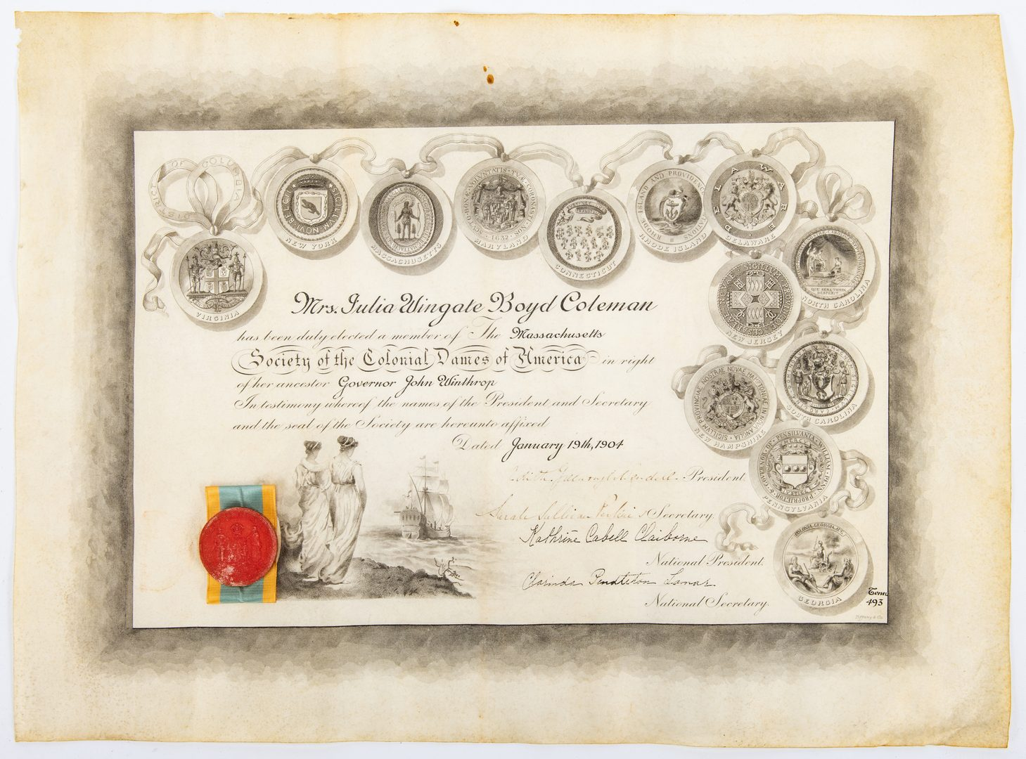 Lot 260: 18 Coleman/Boyd/Marshall Family Related Archival Items