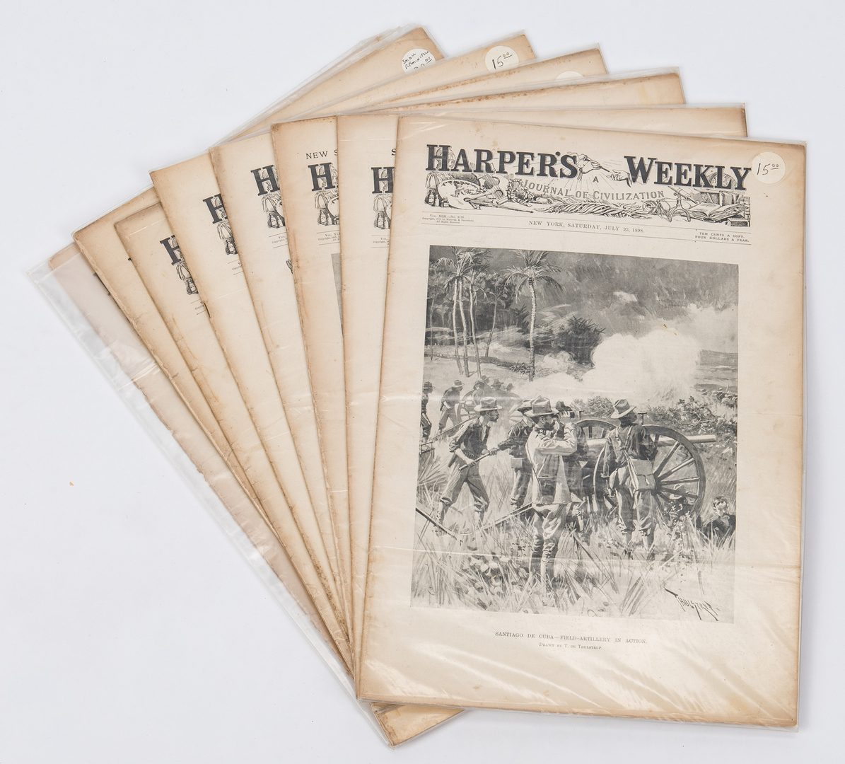 Lot 261: Grouping of 34 19th c. Newspapers, incl. Civil War
