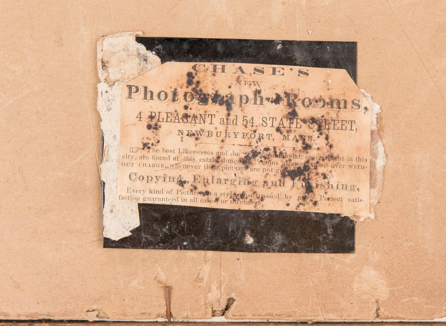 Lot 265: Lacquered CDV Album &  Collage, Massachussetts interest
