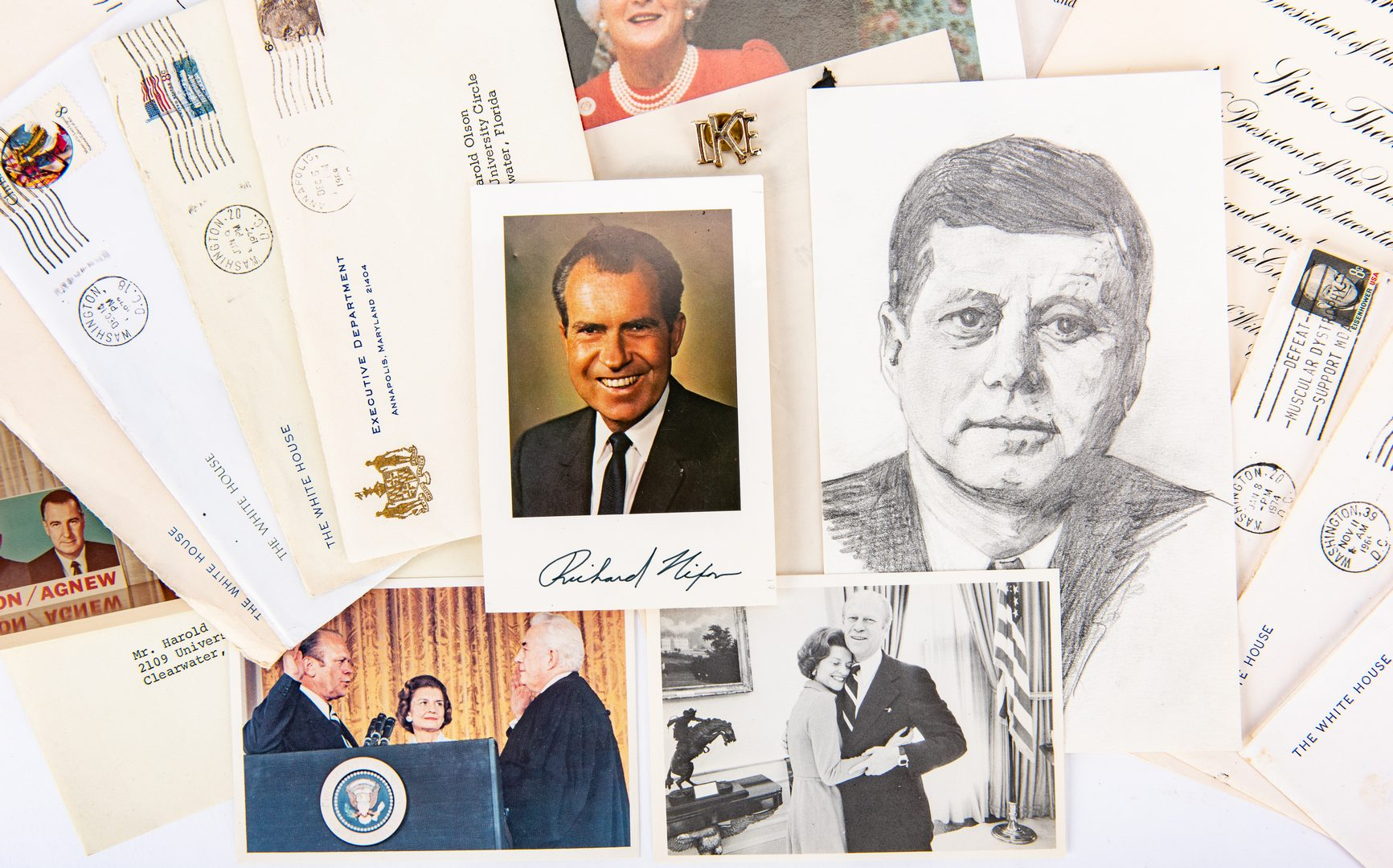 Lot 266: 20th Cent. Political Figures Archive, inc. Nixon, J.E. Hoover, 28 items