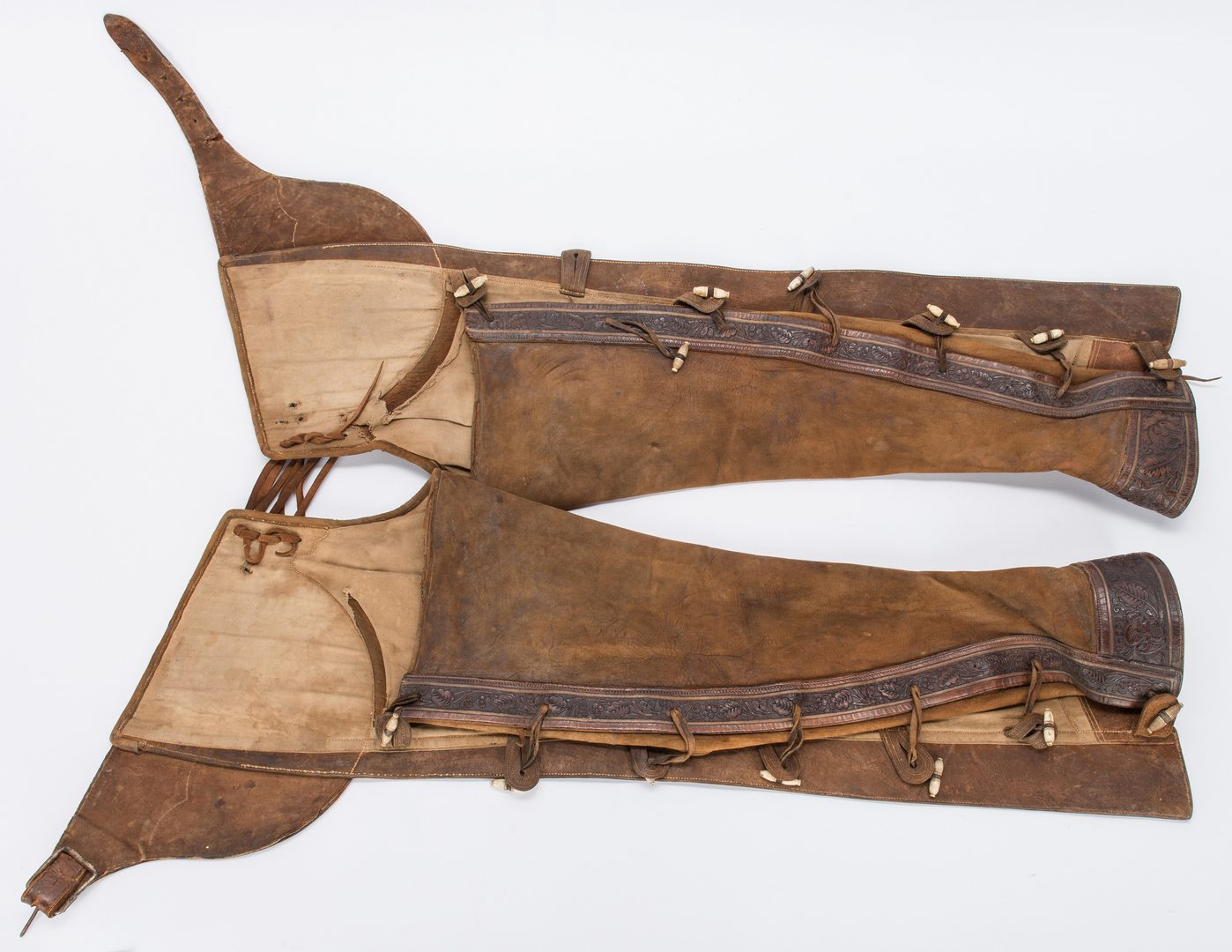 Lot 268: Pair of Leather Charro Chaps & Spurs