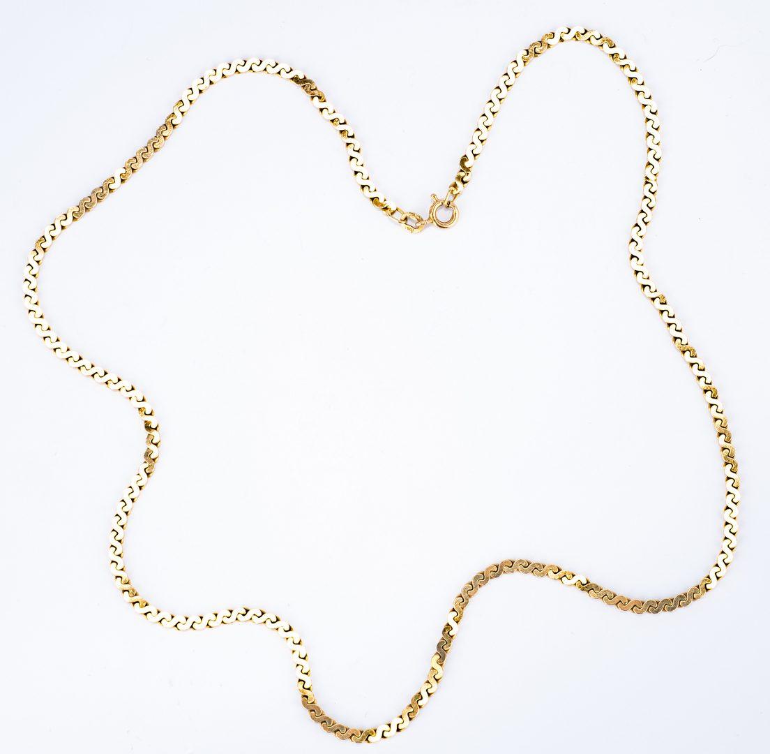 Lot 26: 14K Italian Gold incl. Forever Pendant