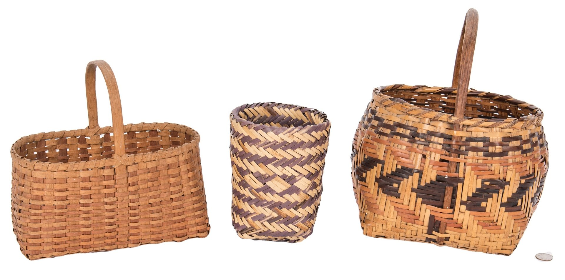 Lot 271: 3 Native American Baskets, incl. Cherokee