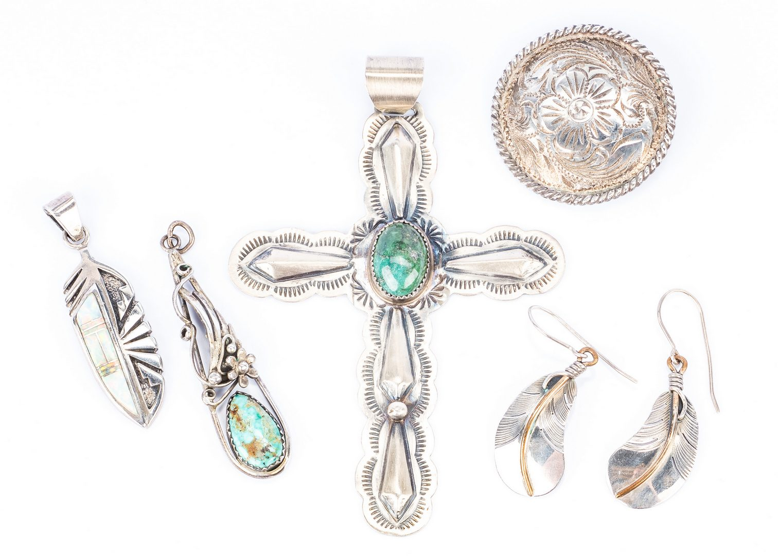 Lot 273: 22 Pcs Native American; Mexican Jewelry