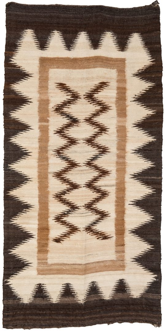 Lot 274: Native American Navajo Eye Dazzler Rug