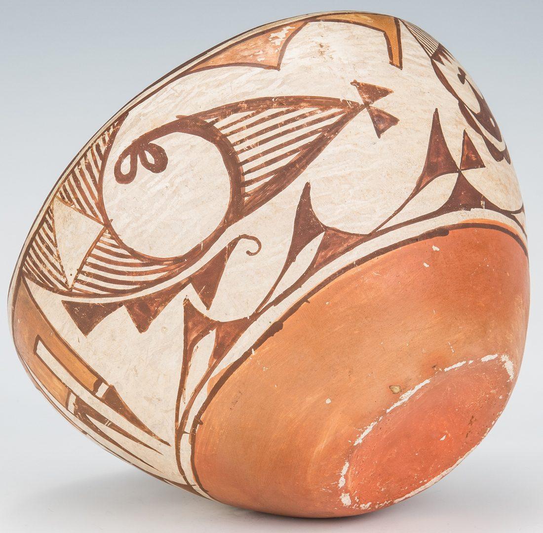 Lot 276: 3 Native American Pottery items, Zuni & Hopi