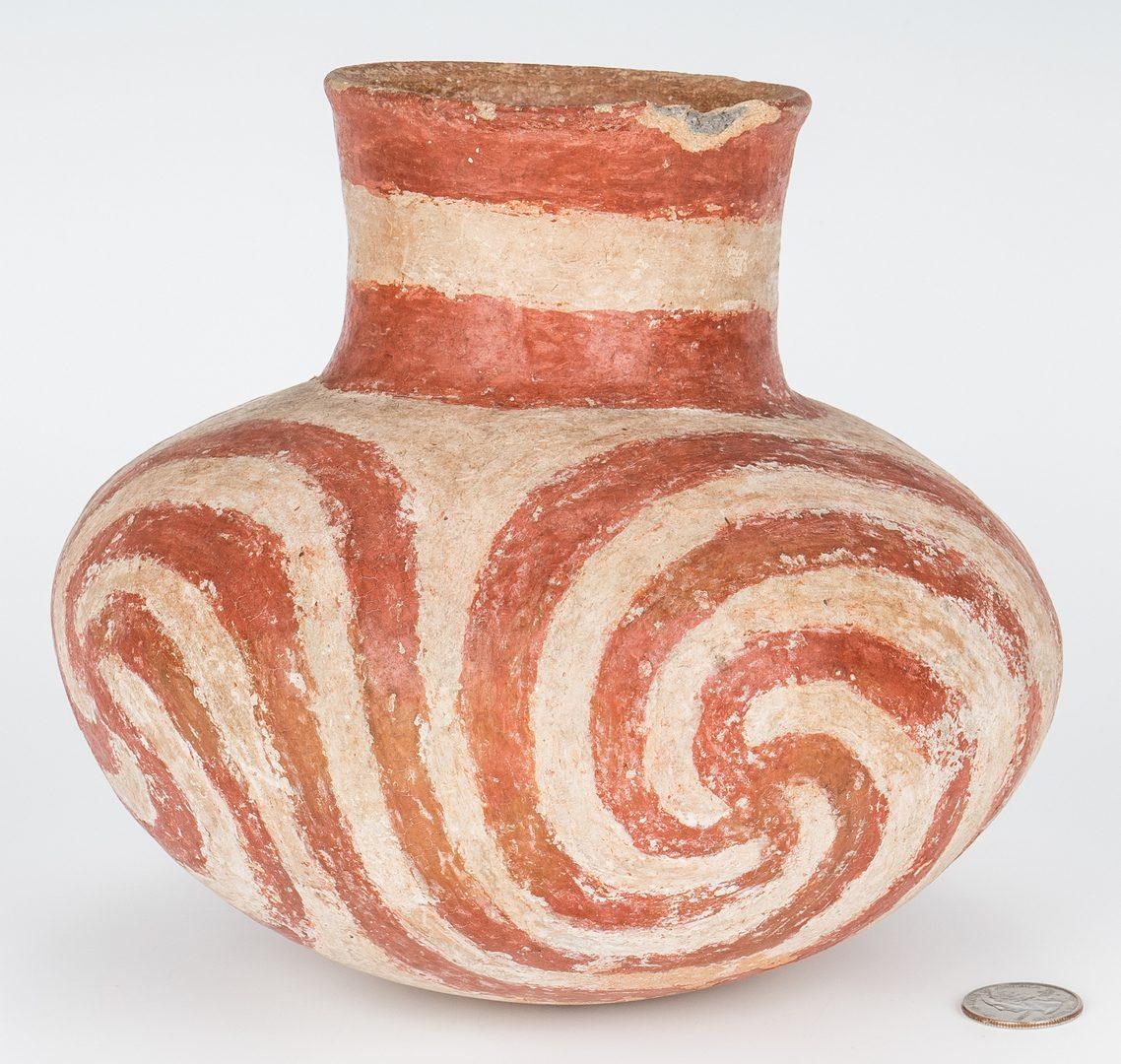 Lot 280: Quapaw Mississippian Culture Polychrome Jar