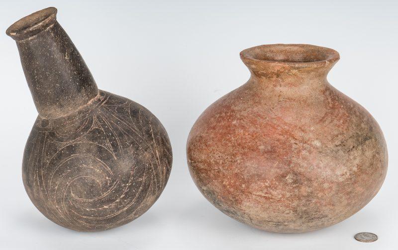Lot 281: 2 Mississippian Culture Pottery Jars
