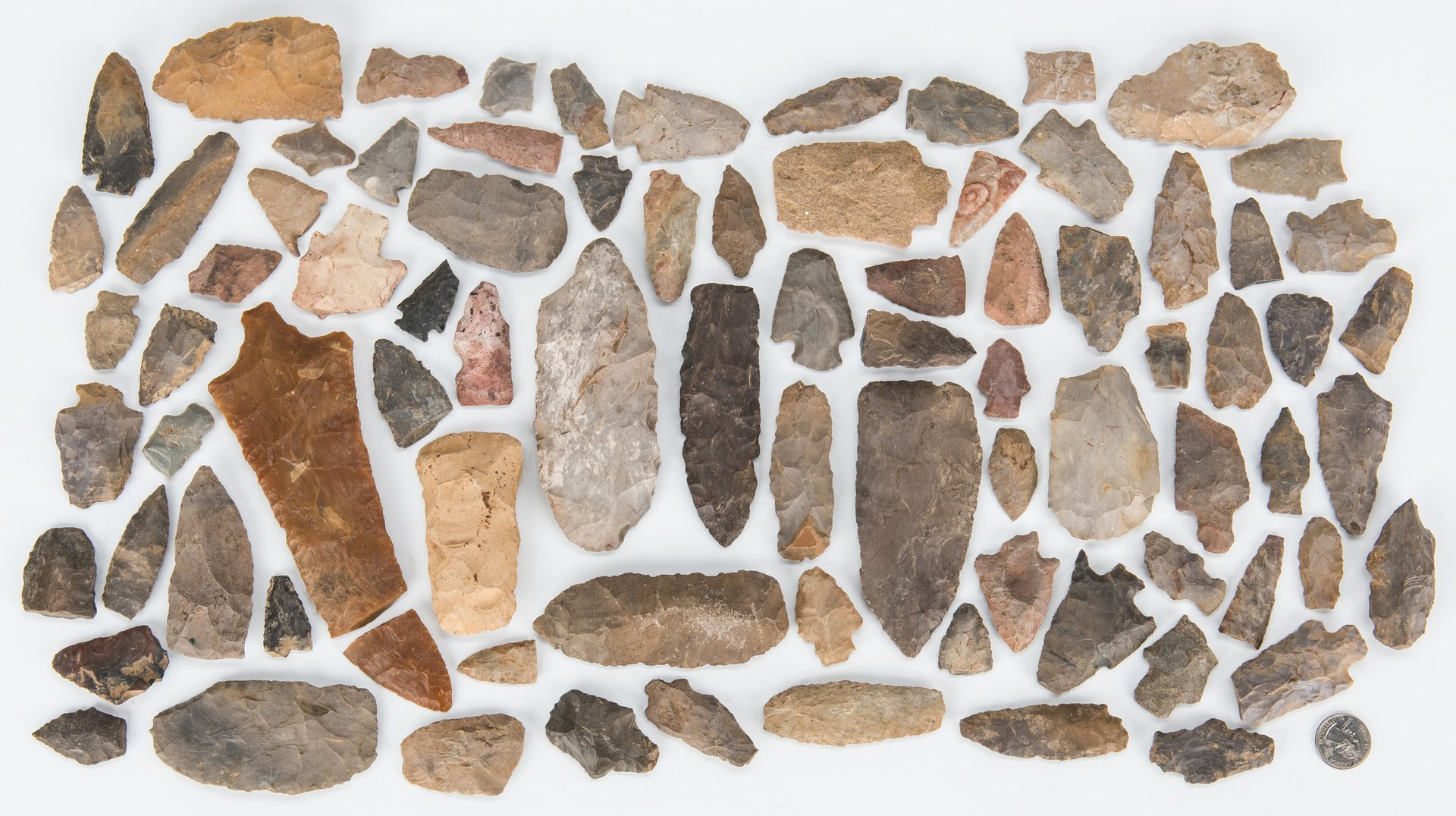 Lot 284: 83 Native American Carved Stone & Flint Artifacts
