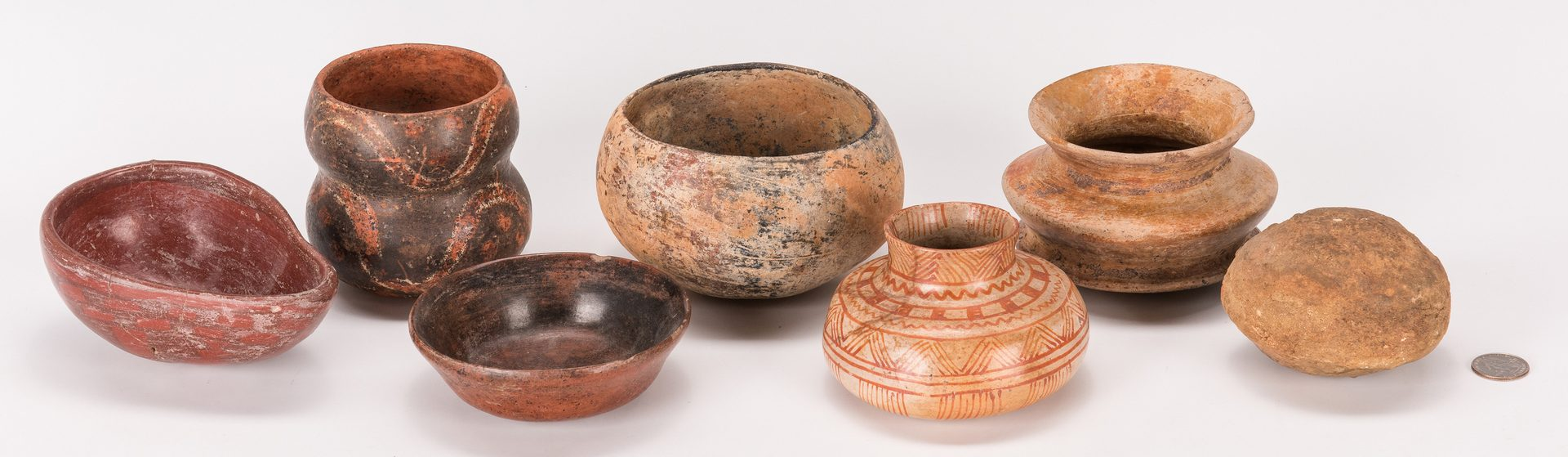 Lot 289: 6 Pre-Columbian Mesoamerican Items, incl. Pottery
