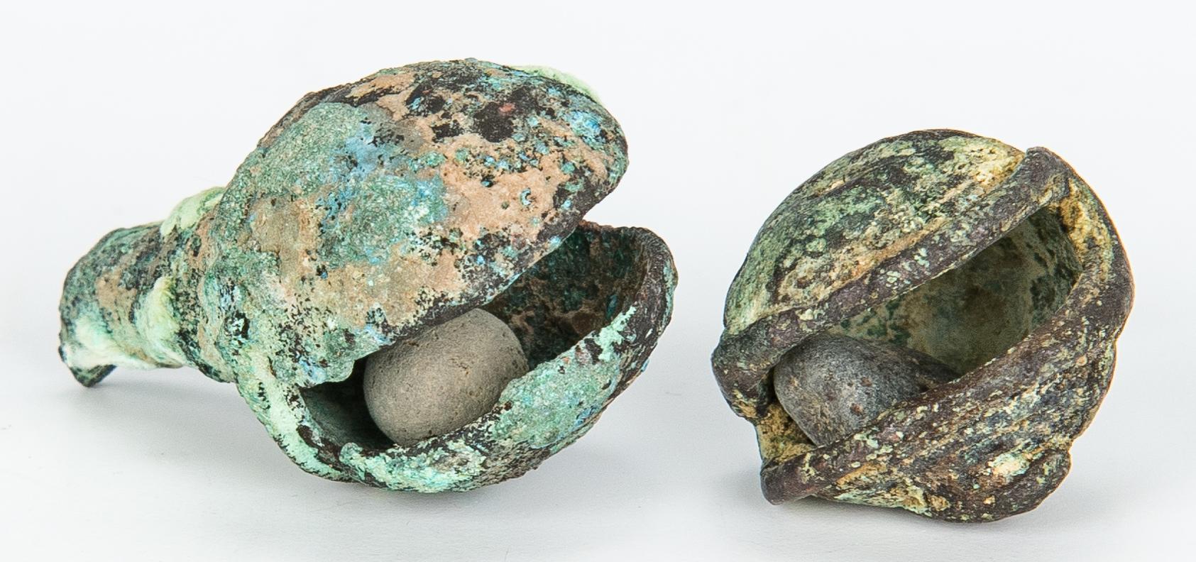 Lot 290: 33 Pre-Columbian/Mexican Items, incl. Effigies, Bells, Textile Fragment