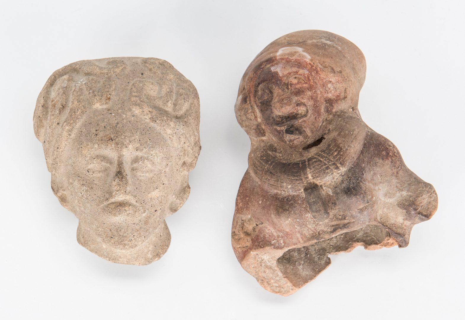 Lot 294: 23 Pre-Columbian Pottery and Stone Human Effigies