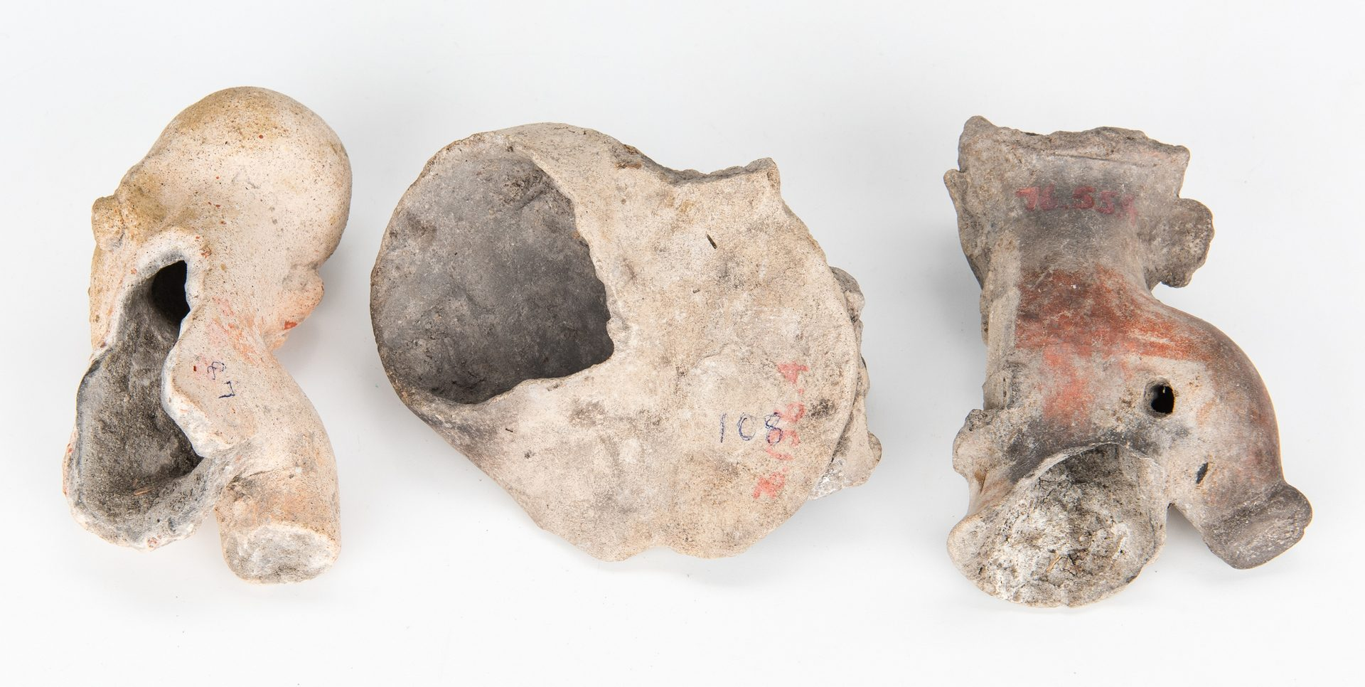 Lot 296: 21 Pre-Columbian Human Effigies, incl. Jama Coaque