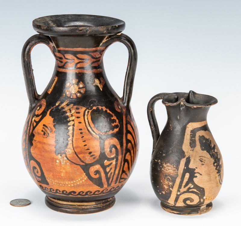 "Lot 298: 2 Apulian ""Lady of Fashion"" Vessels"
