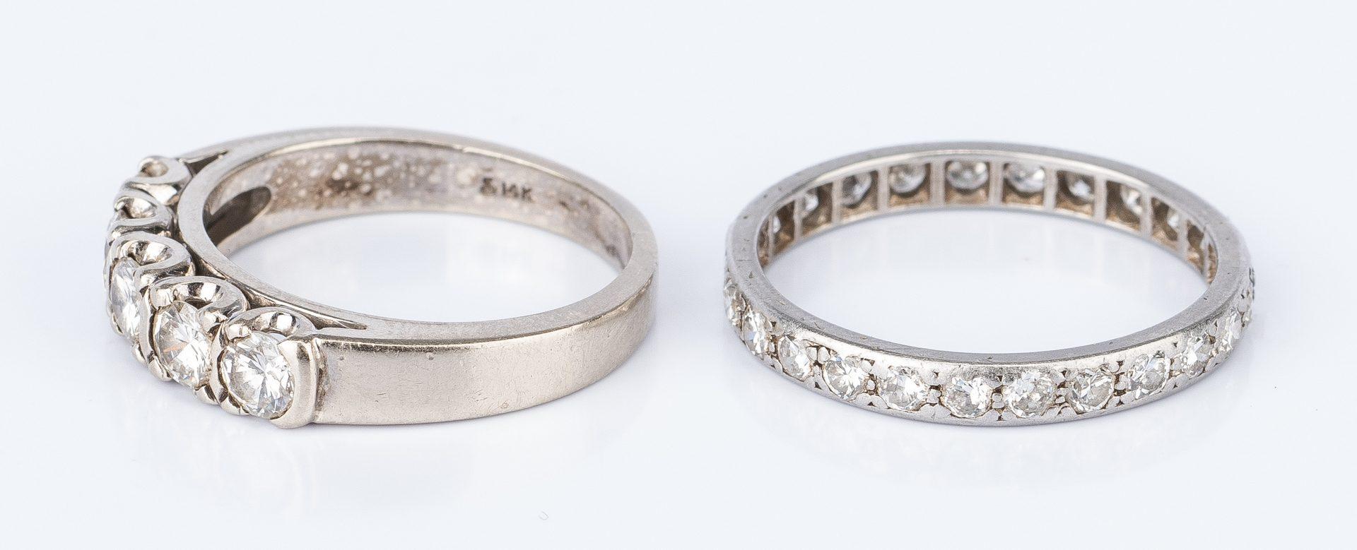 Lot 29: 2 Diamond Bands, 14K and Platinum