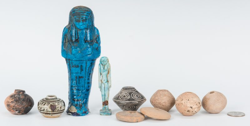 Lot 300: 16 Assorted Egyptian and Pre-Columbian Relics