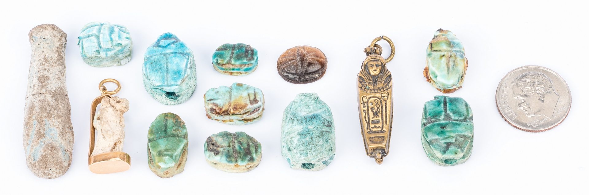 Lot 301: 13 Egyptian Items, incl. Jewelry