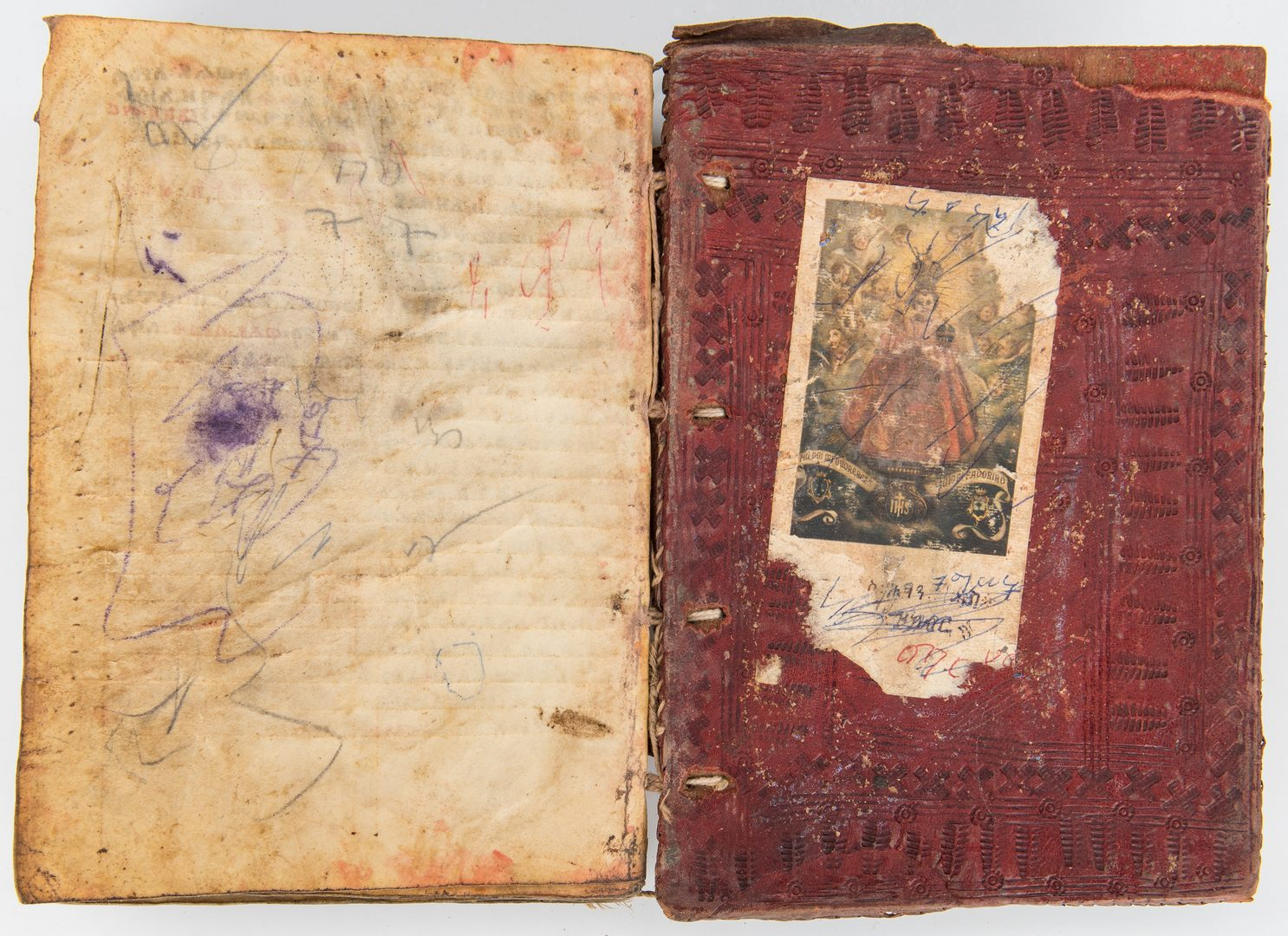 Lot 303: 2 Middle Eastern Items; Ethiopian Bible, 3 items