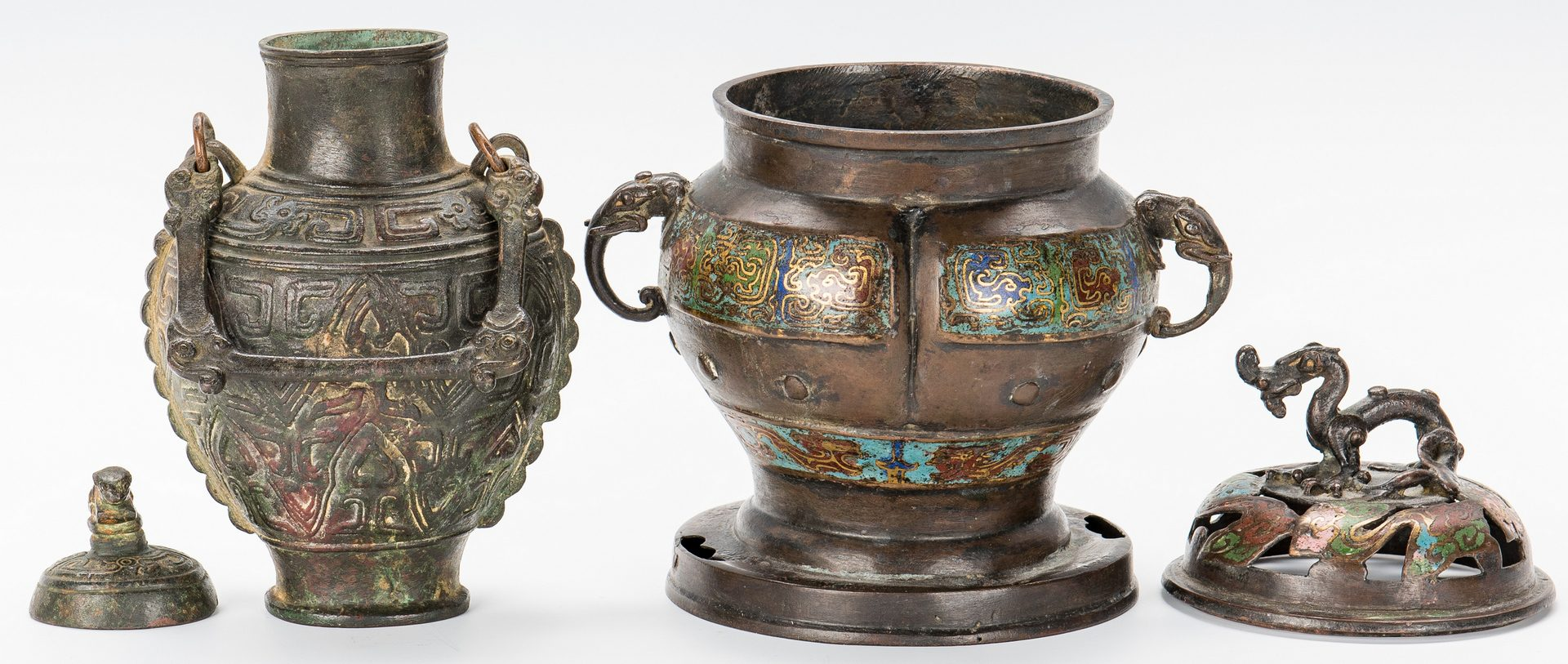Lot 308: 3 Chinese Bronze Decorative Items