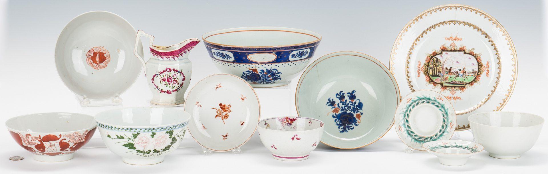 Lot 316: 12 pcs Chinese Export porcelain inc. battle scene