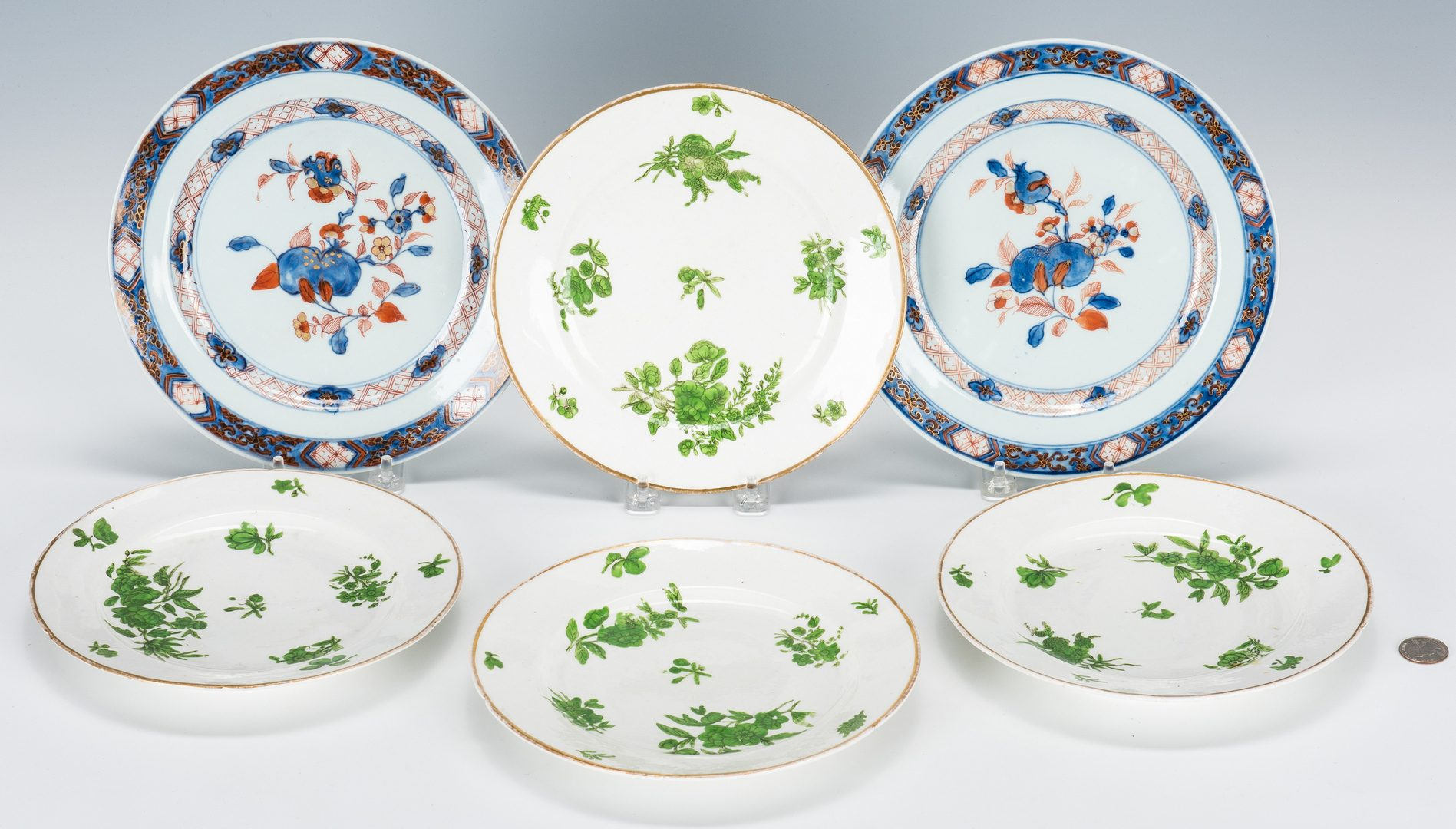 Lot 317: Chinese & English Porcelain Plates, 6 total
