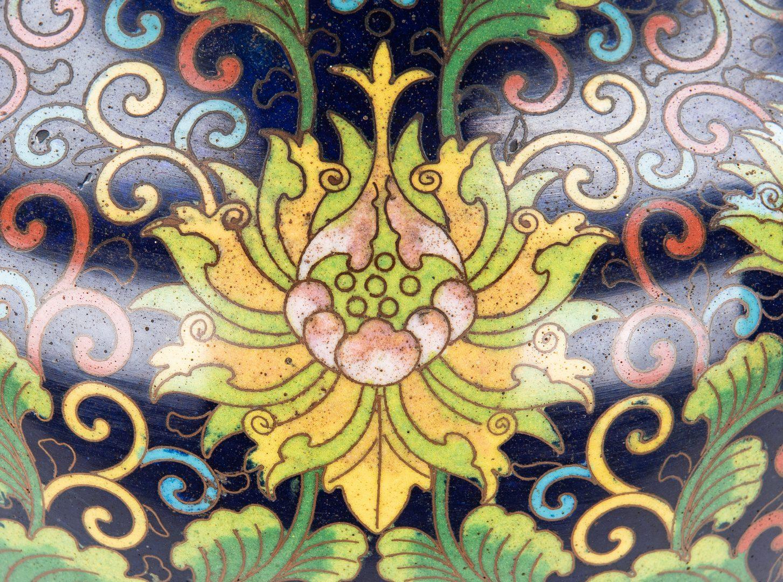 Lot 321: Large Chinese Ming Style Cloisonne Vase