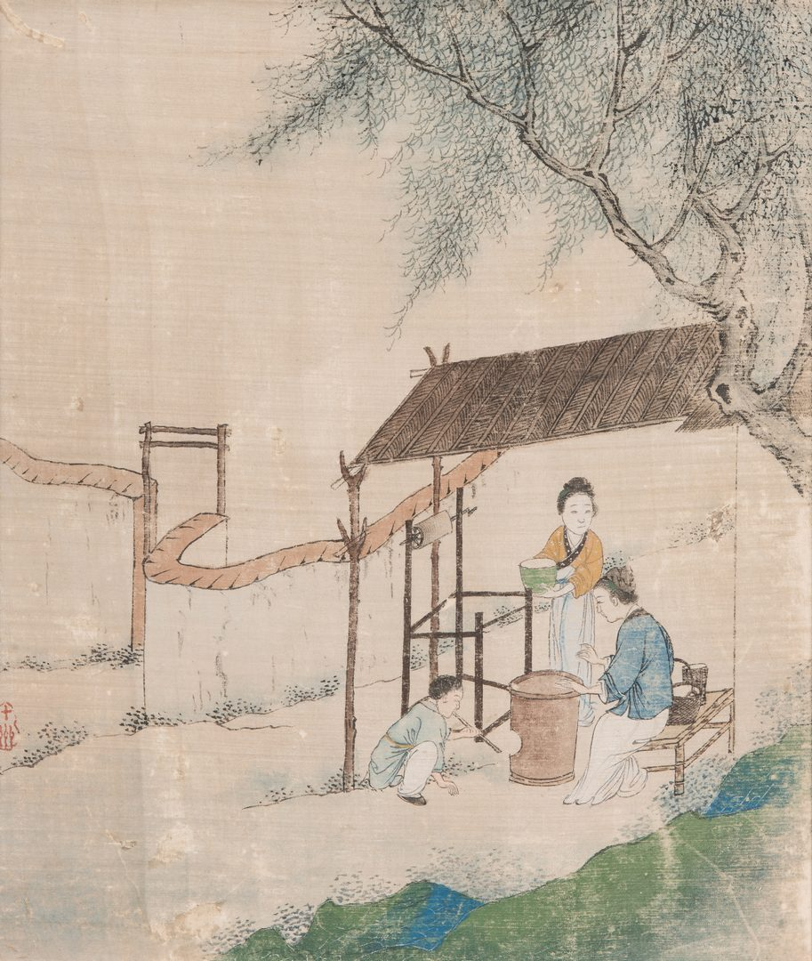 Lot 324: 5 Qing Painted Landscapes on silk