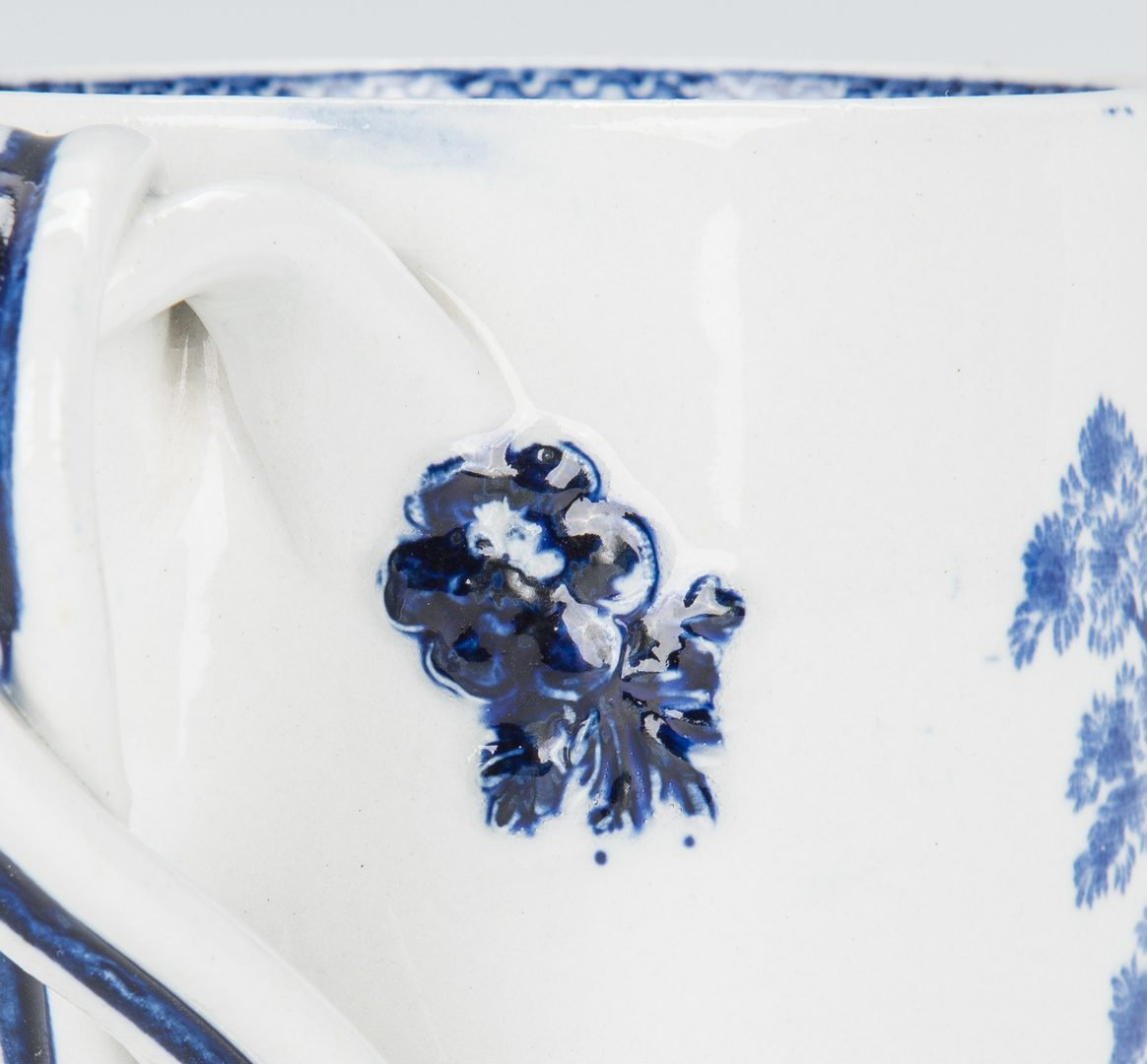 Lot 331: Blue & White Transferware Horse & Cattle items, 3 pcs