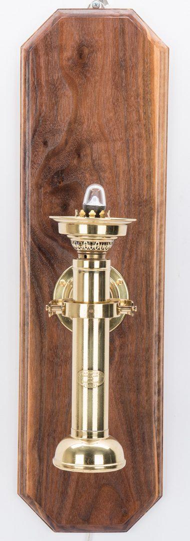 Lot 343: Pair of Harnisch Brass Ship Lamps