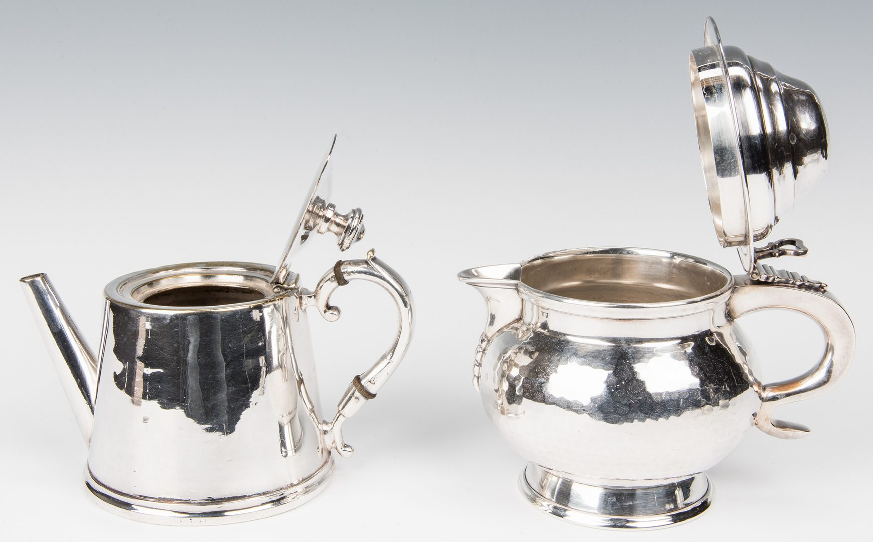 Lot 349: 10 Assorted Silver Plated Items, incl. Water Pitcher