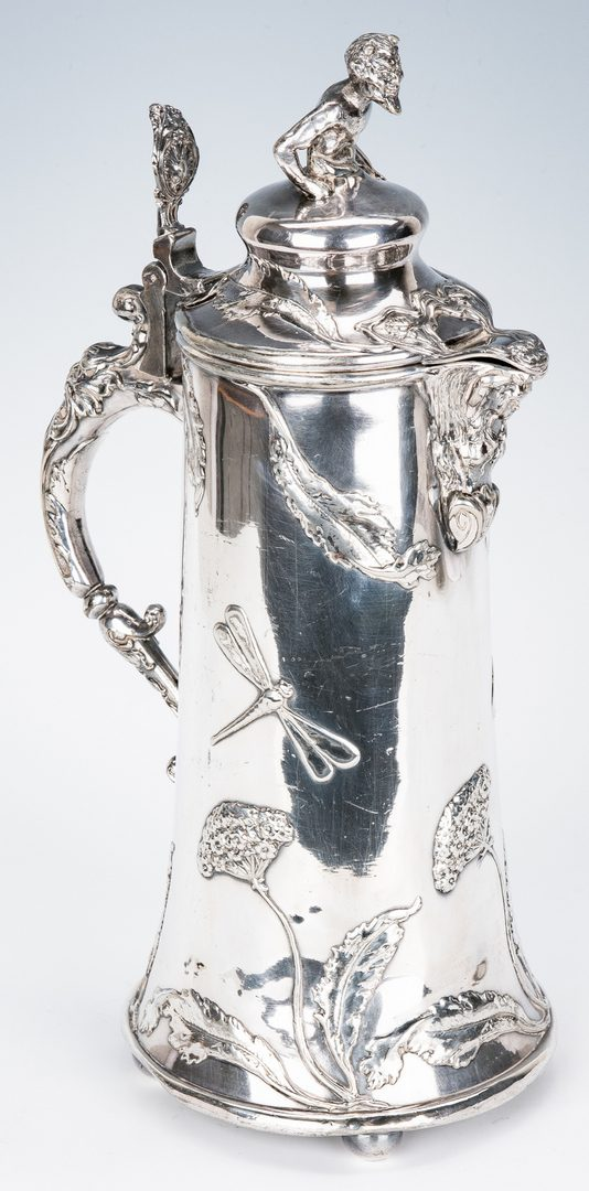 Lot 350: Riceszinn Art Nouveau Tankard & Krupp Dish, 2 items