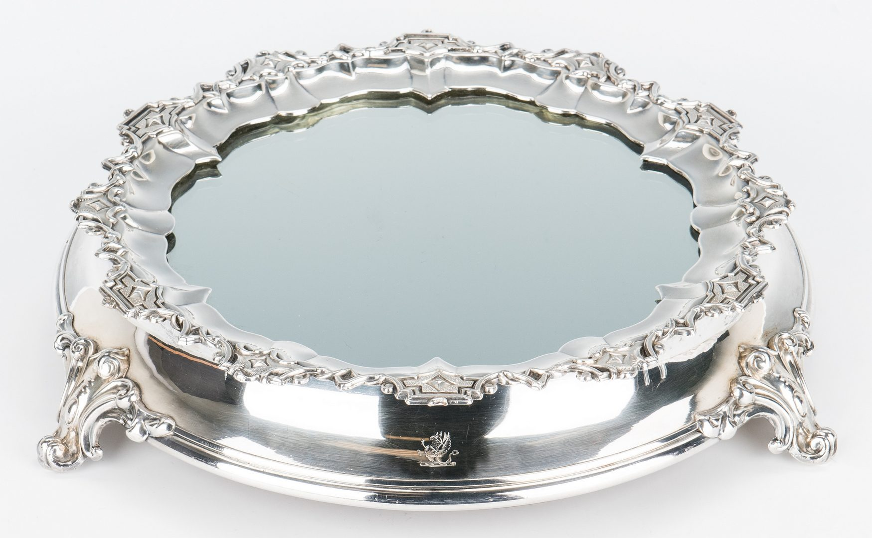Lot 351: Continental Silver Plate Mirrored Plateau