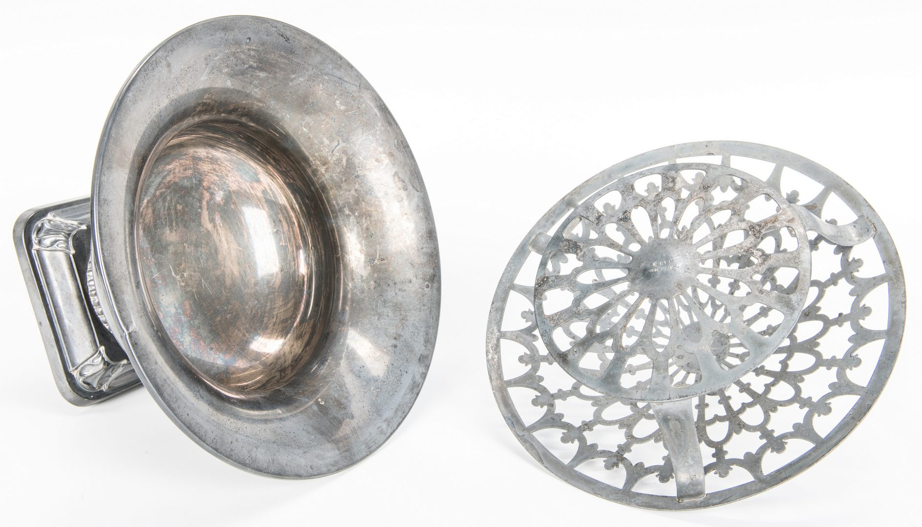 Lot 356: Wallace Sterling Bowl and Candlesticks