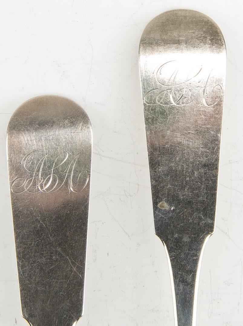 Lot 358: 9 Pcs John Adams Family Coin Silver Flatware