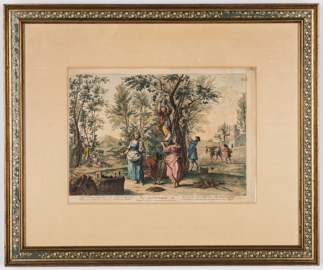 "Lot 365: R. Sayer: 2 ""Months of the Year"" 18th C. Engravings"