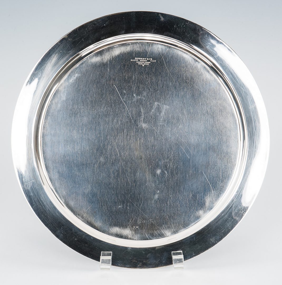 Lot 36: Tiffany & Co. Round Sterling Silver Tray