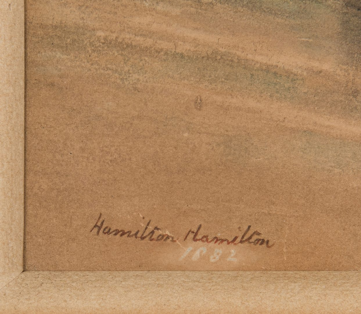 Lot 374: Hamilton Hamilton Chromolithographic Print, Bathing Beauty on Beach