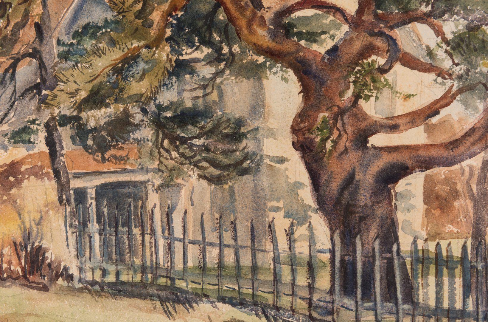 Lot 379: Dorothy B. Rossiter Watercolor, Iowa Farmhouse