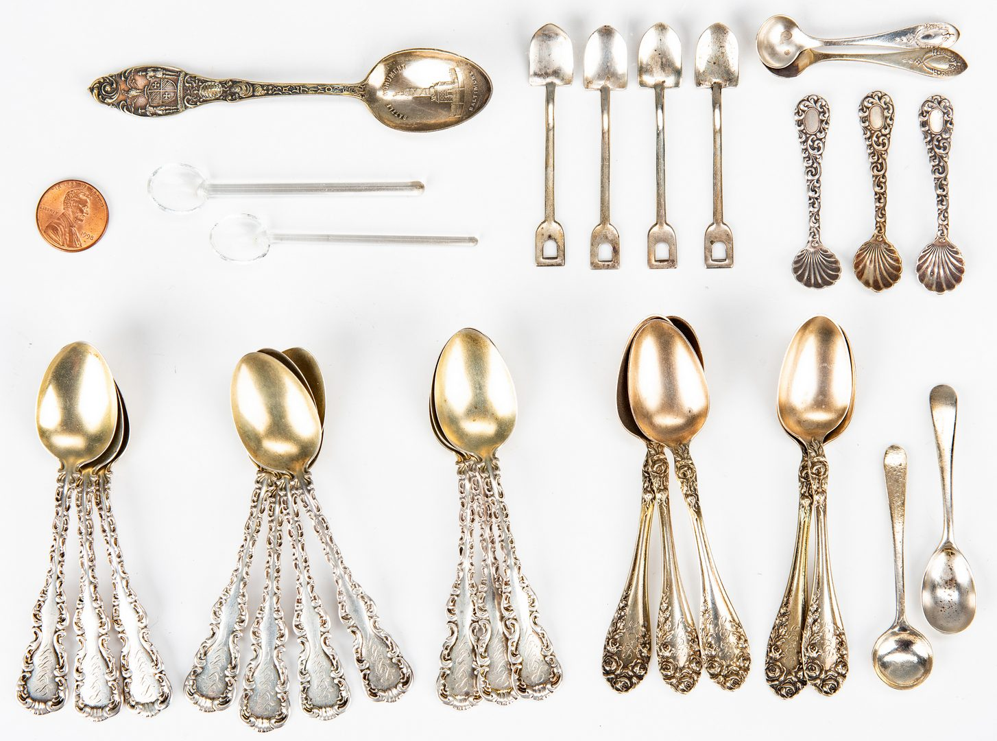 Lot 37: 82 Pcs. Assorted Vintage Sterling Flatware & Sterling Torah Pointer or Yad
