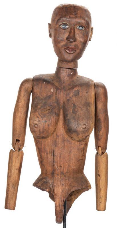 Lot 383: 19th Century Wood Artist Mannequin