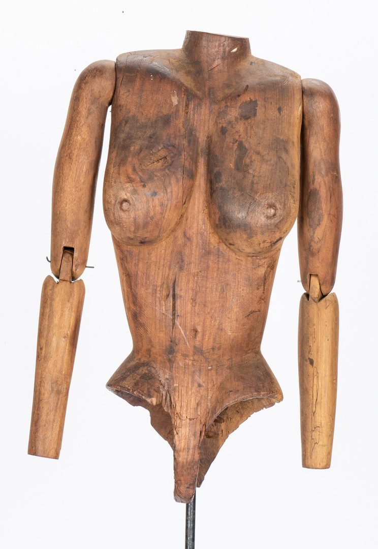 Lot 383: 19th Century Wood Artist Mannequin