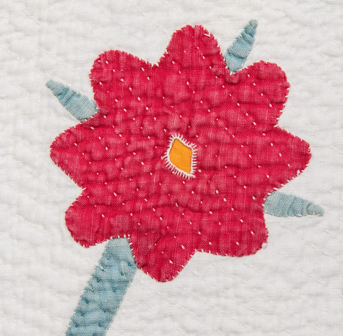 Lot 388: Southern Pieced and Appliqued Quilt
