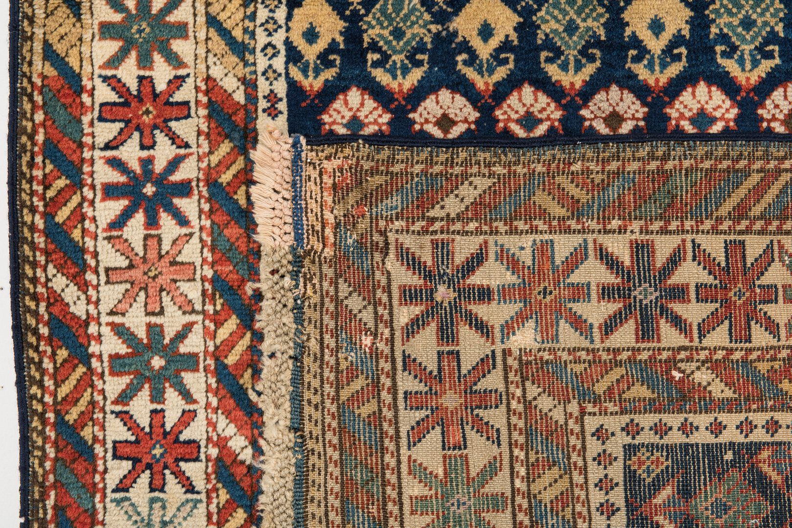 Lot 391: Antique Kuba Caucasian area rug