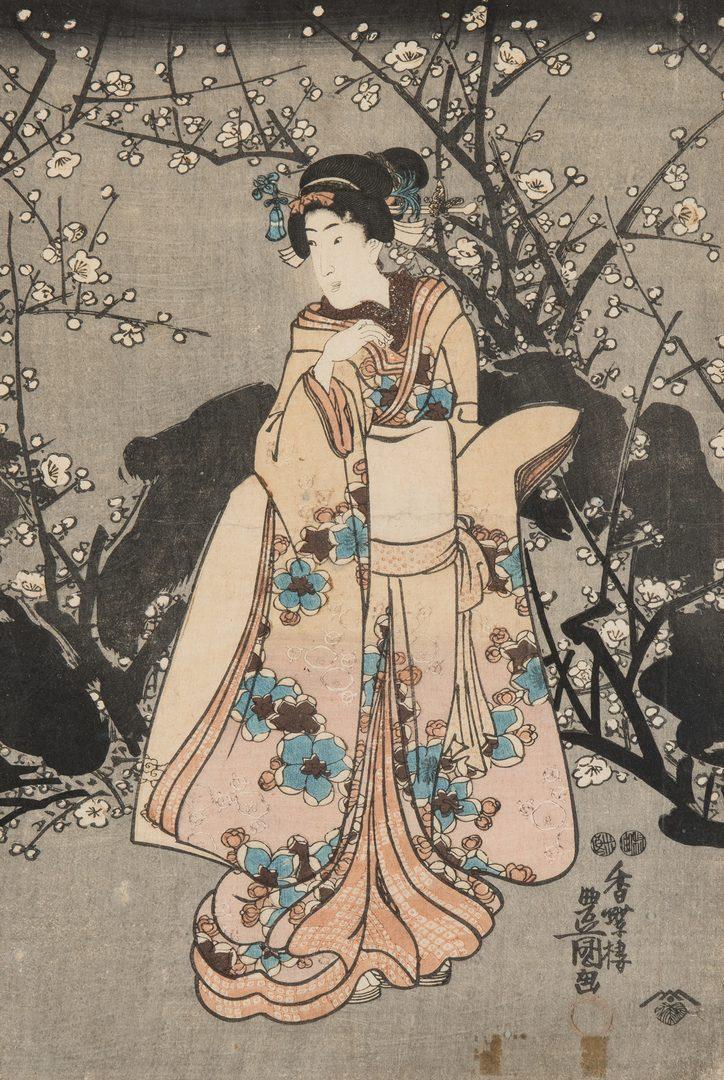 Lot 399: 7 Framed Japanese Woodblock Prints