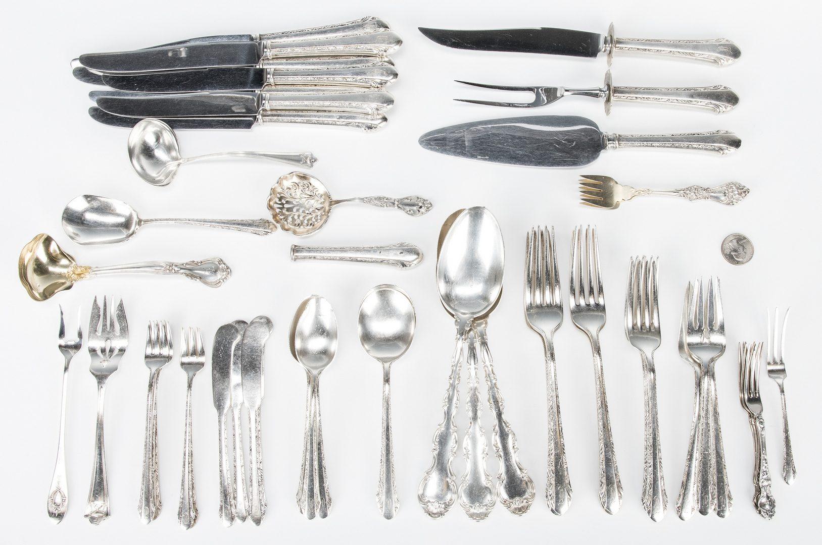 Lot 39: Alvin Sterling Flatware & Misc. Sterling Flatware, 52 items