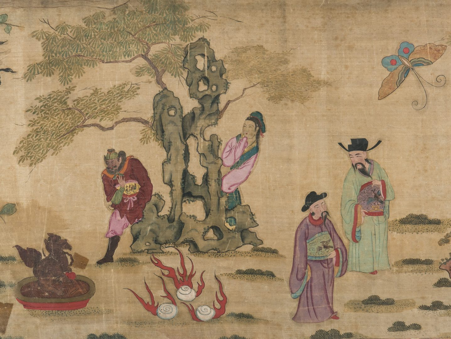 Lot 3: Panoramic Chinese Painting on Silk