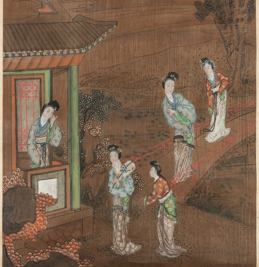 Lot 400: Chinese Qing Scroll Painting