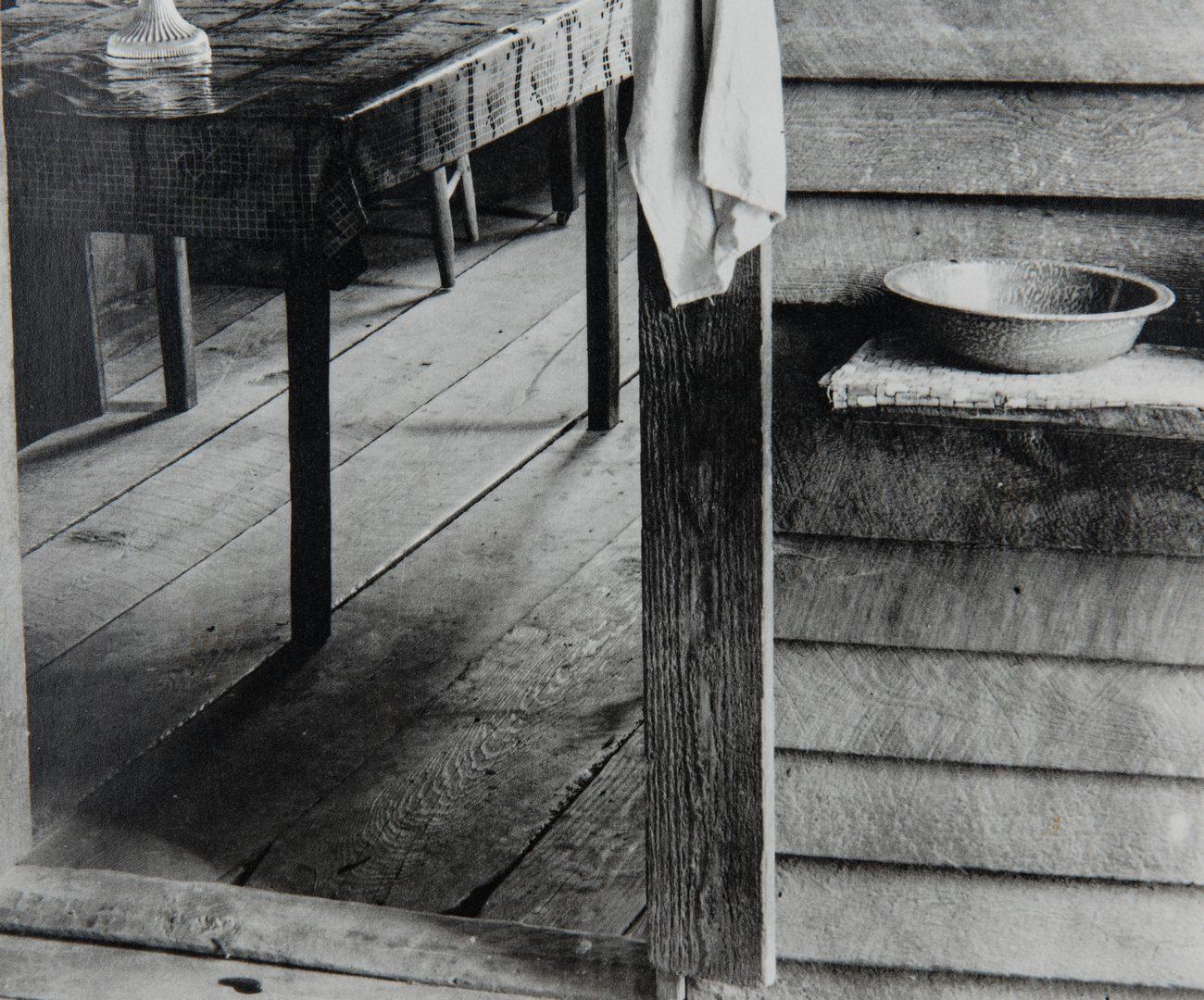 "Lot 411: Walker Evans Photogravure ""Washroom and Dining Area"""