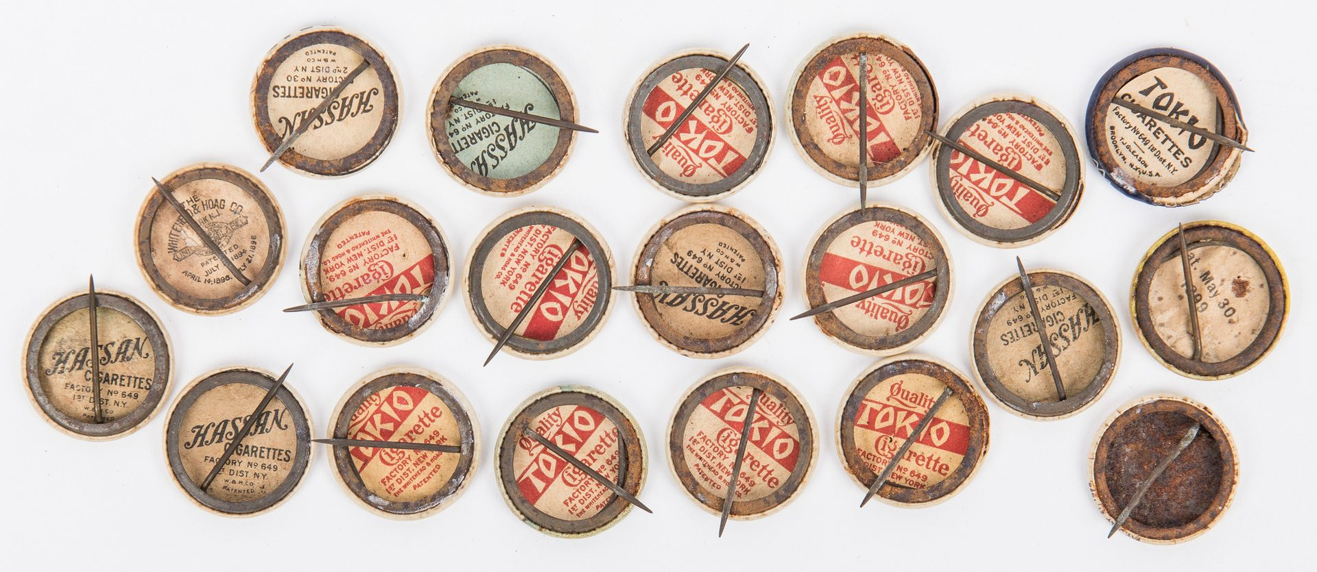 Lot 413: Collection Early Cigarette Premium Pinback Buttons