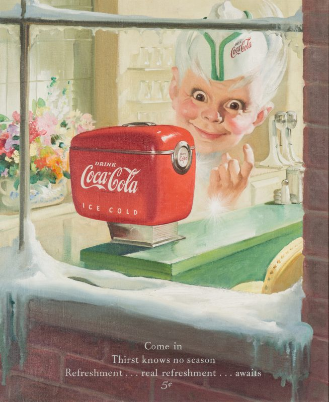 Lot 417: Manner of Sundblom O/C, Coca Cola Illustration